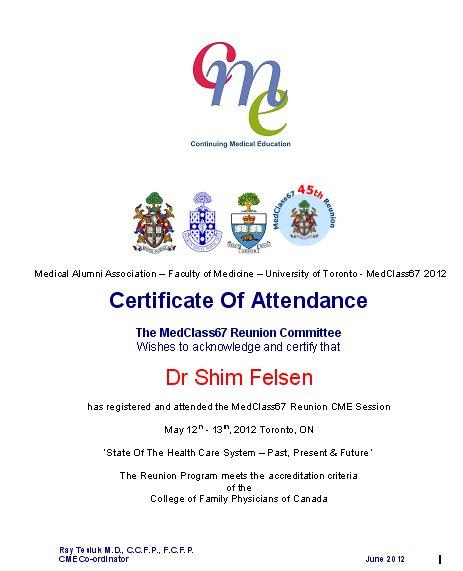 Cme Certificates